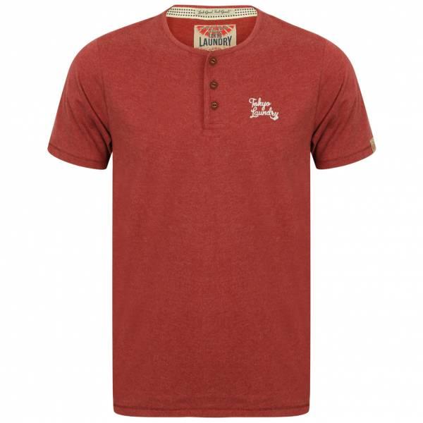 Tokyo Laundry Westby Herren T-Shirt 1C10016 Bordeaux Marl