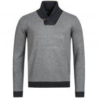 Kensington Eastside Herren Sweatshirt mit Stehkragen Stanbury Grau