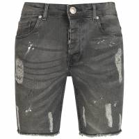BRAVE SOUL Rally Denim Uomo Jeans Strappato Shorts MSRT-RALLY1