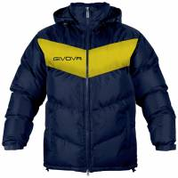 Givova winter jacket Giubbotto Podio navy / yellow
