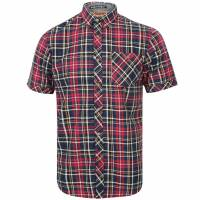 Tokyo Laundry Stafford Men Checked Shirt 1H10586 Pompeian Red