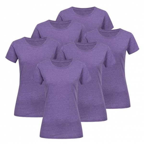 RUSSELL Tee 6er-Pack Damen T-Shirt 0R165F0-Purple-Marl 0R165F0-Purple-Marl