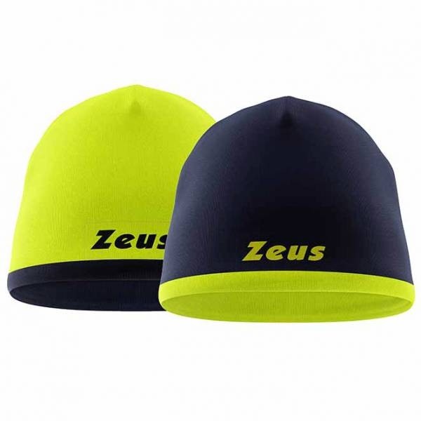 Zeus Dwustronna czapka beanie Czapka zimowa Granatowy neonowy żółty