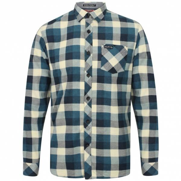Tokyo Laundry Veracruz Cotton Flannel Herren Karo Hemd 1H10614 Dusty Blue