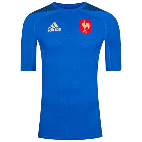 adidas TechFit Frankreich Rugby Baselayer Shirt AB8326