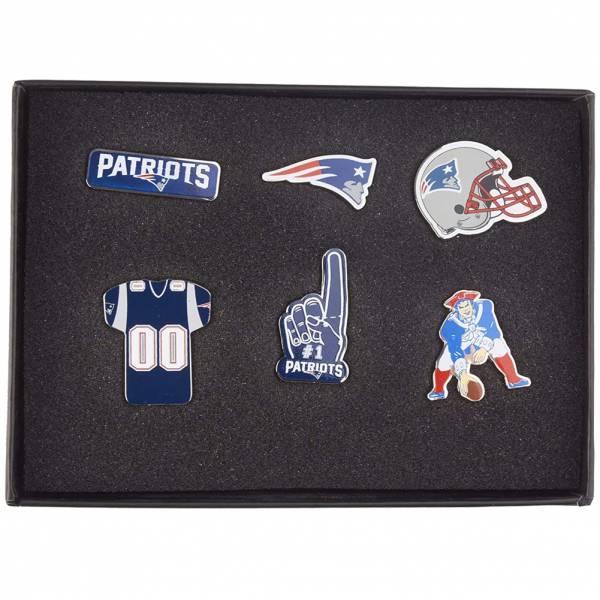 New England Patriots NFL Metall Pin Anstecker 6er-Set BDNFL6SETNP