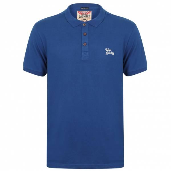 Tokyo Laundry Roseville Cotton Pique Herren Polo-Shirt 1X10922 Sapphire