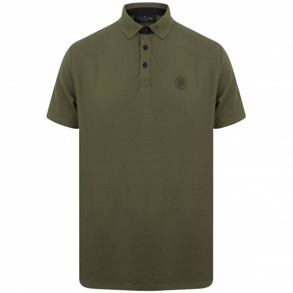 DNM Dissident Klaxon Men Polo Shirt 1X12429 Turtle Khaki
