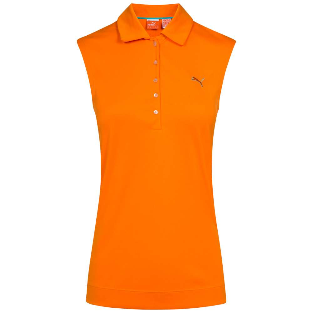 Puma Damen Golf Solid Rmellos Polo Shirt 562680 05 Sportspar