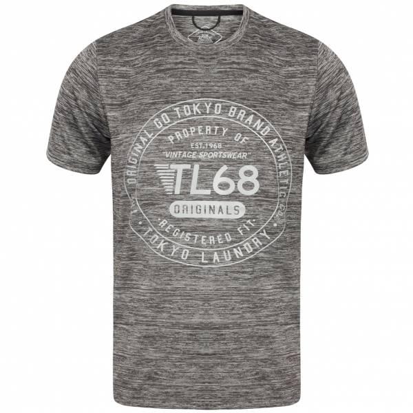 Tokyo Laundry Fitchburg Reflective Motif Men's T-Shirt 1C10829 Frost Gray