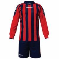 Givova Kit Rumor Fußball Set Langarm Trikot + Short KITC25-0412
