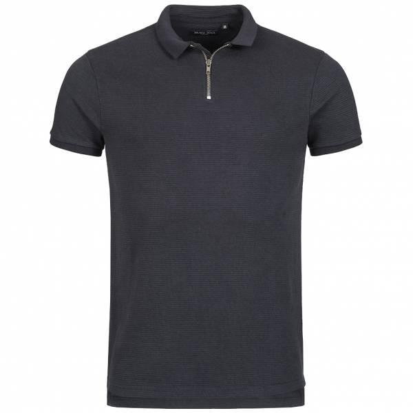 BRAVE SOUL Romeo Herren Zip Neck Polo-Shirt MPS-412ROMEO Dark Navy