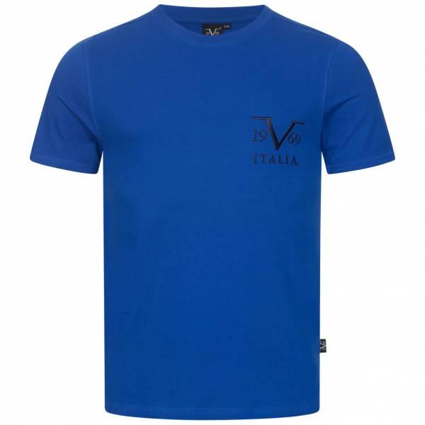 19V69 Versace 1969 Basic Big Logo Herren T-Shirt VI20SS0008B royal