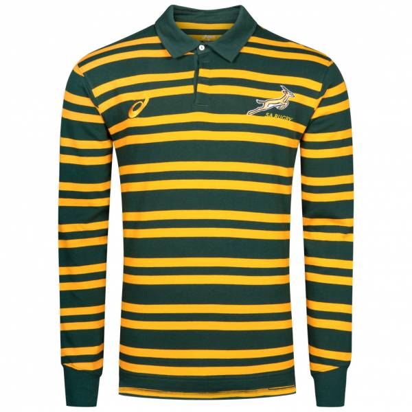 South Africa Springboks Asics Mens Rugby Polo Shirt 126331sr 4110