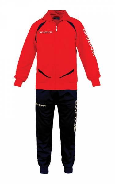 Givova Tuta Training Gold Trainingsanzug rot/schwarz