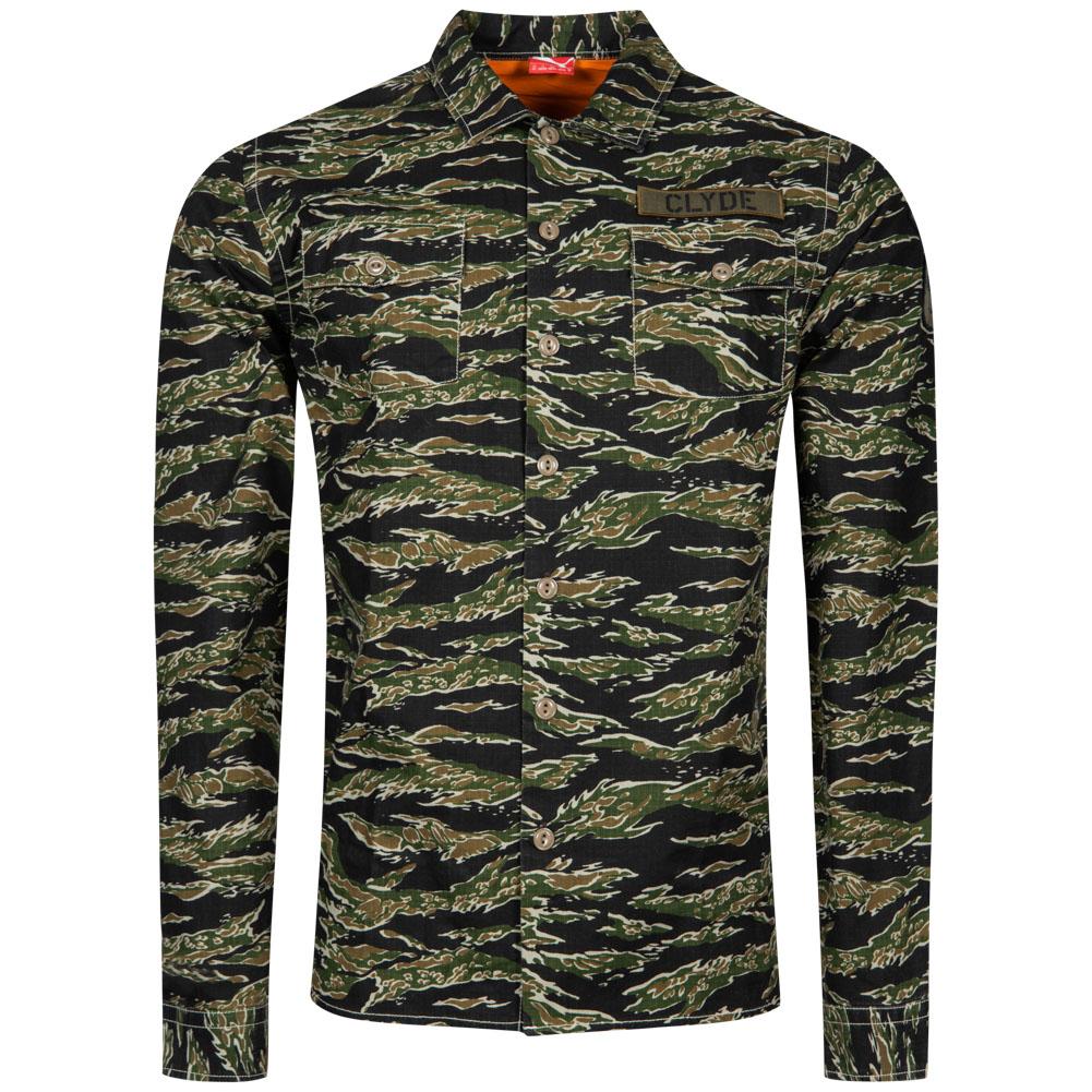 puma herren all over camo shirt langarm hemd 561824 01. Black Bedroom Furniture Sets. Home Design Ideas