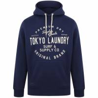 Tokyo Laundry Portopalo Herren Kapuzen Sweatshirt 1D12650 Medieval Blue