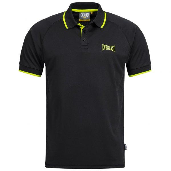 Everlast Polo-Shirt black/yellow EVR9703