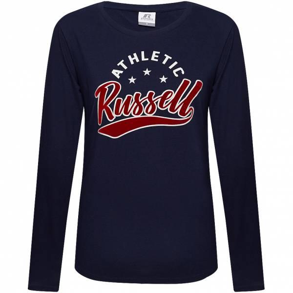 RUSSELL Logo Damen Langarm Shirt A9-125-2-190