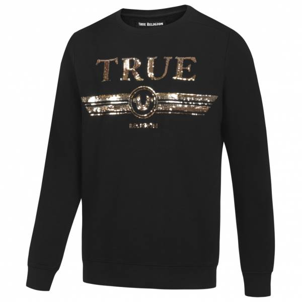 True Religion Trucci Sequin Crew Herren Sweatshirt M19HF28N7G-4005