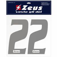 Zeus Nummern-Set 1-22 zum Aufbügeln 10cm silber