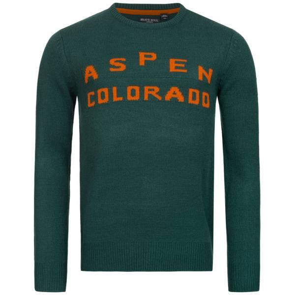 Męski sweter BRAVE SOUL Aspen Colorado MK-248SKIASPEN GREEN