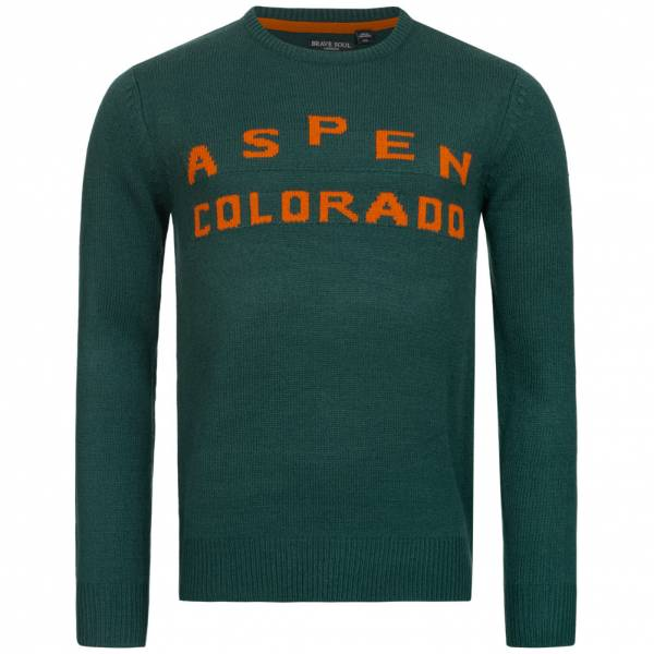 BRAVE SOUL Aspen Colorado Herren Pullover MK-248SKIASPEN GREEN