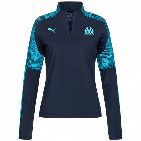 Olympique Marseille PUMA Damen 1/4-Zip Trainings Sweatshirt 755832-04