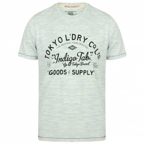 Tokyo Laundry Prestonburg Flocked Motif Men's T-Shirt 1C10893R Dark Mint