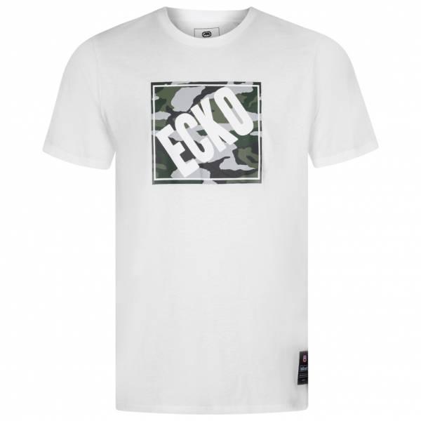 Ecko Unltd. Camo Square Graphic Herren T-Shirt ESK4368 White