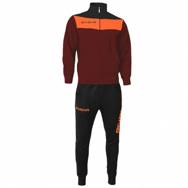 Givova Tuta Campo Tracksuit dark red / orange
