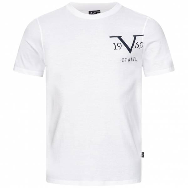 19V69 Versace 1969 Big Logo Herren T-Shirt VI20SS0010B weiß