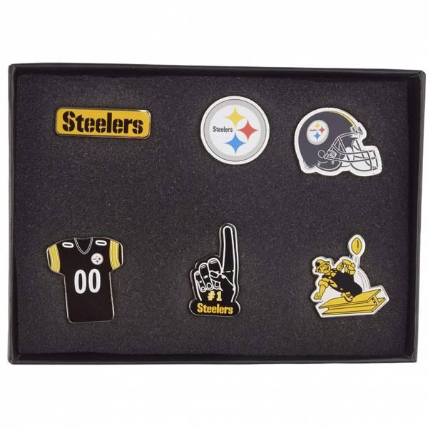 Pittsburgh Steelers NFL Metall Pin Anstecker 6er-Set BDNFL6SETPS
