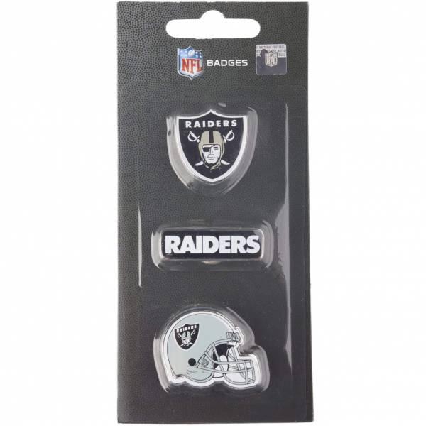 Raiders d'Oakland NFL Pins métalliques Ensemble de 3 BDNFL3PKOR