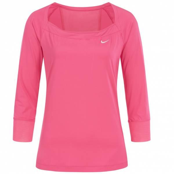 Nike Top Damen Fitness 3/4 Arm Shirt 327790-670