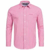 BEN SHERMAN Herren Langarm Hemd 0058303-510 Pink