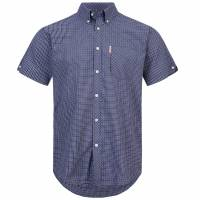 BRUTUS JEANS Short-sleeved Shirt 10009 Purple Check
