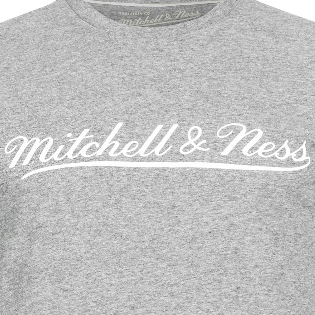 Mitchell /& Ness Script Herren Mode Freizeit Kurzarm T-Shirt MN-BRA-SCRPTLOGOTRAD