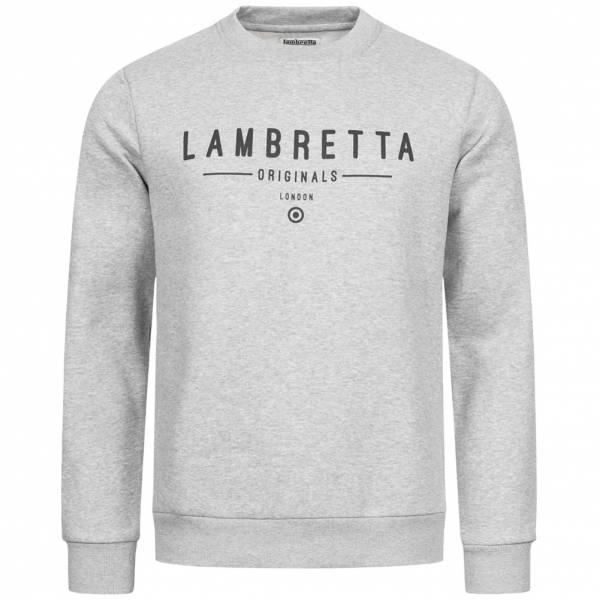 Lambretta Crew Neck Sweat Herren Sweatshirt SS9882 Grey Marl