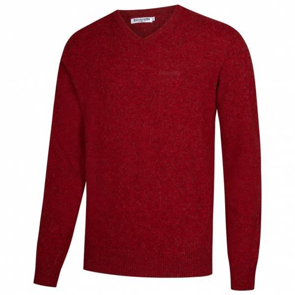 Lambretta Lambswool Sweater Herren Lammwolle Sweatshirt RWIK0045-CLARET