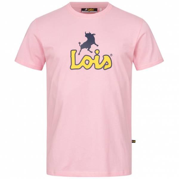 Lois Jeans Big Logo Herren T-Shirt 4E-LTSM-BL-Pink