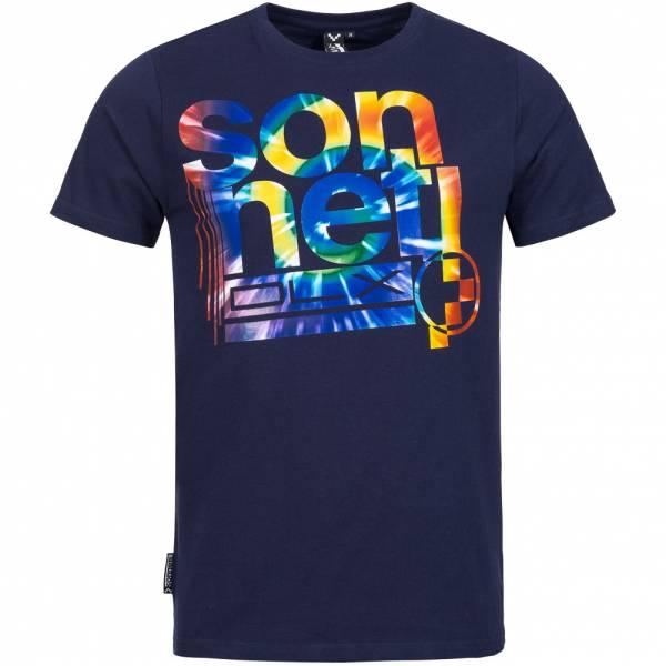 Sonneti Heren T-shirt Molecuul Navy