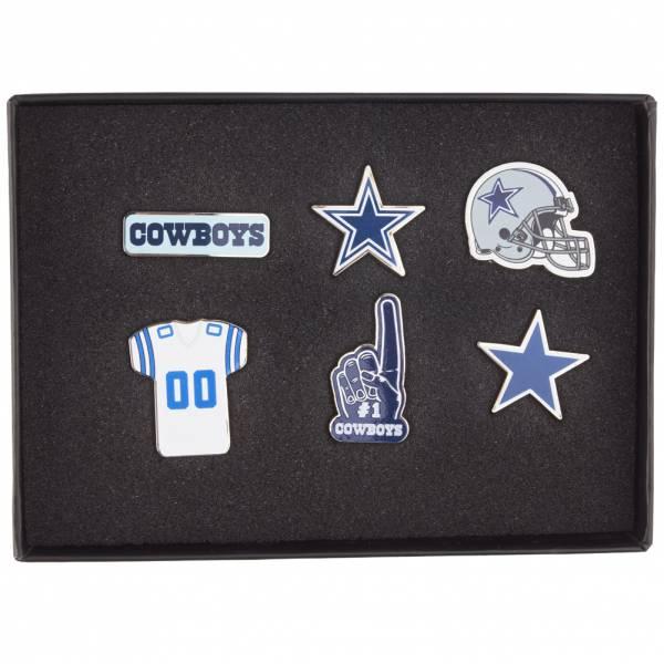 Cowboys de Dallas NFL Pins métalliques Ensemble de 6 BDNFL6SETDC
