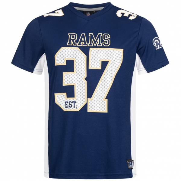 Los Angeles Rams Majestic Athletic Moro Uomo NFL T-shirt per tifoso LARMOROMESH
