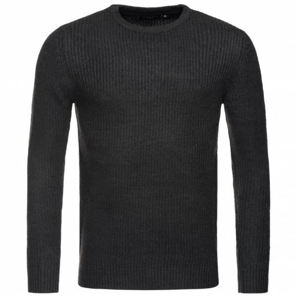 BRAVE SOUL Fulton Rib Detail Herren Sweatshirt MK-230FULTON Charcoal Marl
