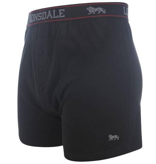 Lonsdale Boxershorts 2 St. schwarz mit Eingriff