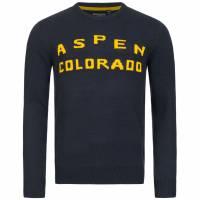 Męski sweter BRAVE SOUL Aspen Colorado MK-248SKIASPEN NAVY