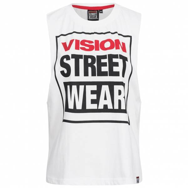 Vision Street Wear Damen Fitness Crew Neck Tank Top Shirt CL3101 white