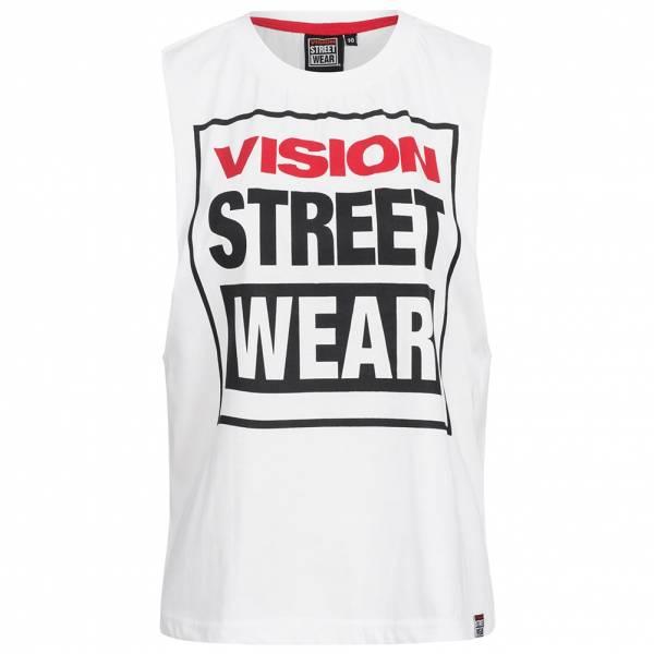 Vision Street Wear Women Fitness Crew Neck Tank Top CL3101 white