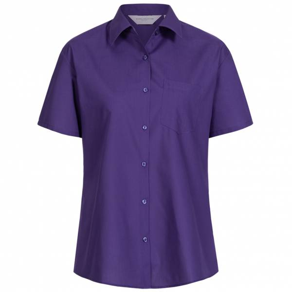 RUSSELL Short Sleeve Poly Cotton Poplin Damen Hemd 0R935F0-Purple